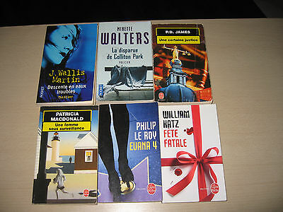 Lot Livres Policiers Thrillers