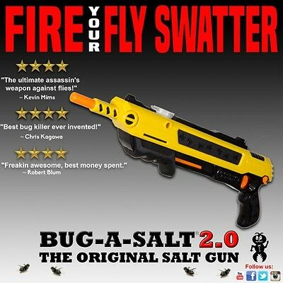 Authentic BUG-A-SALT 2.0 Gun Fly Swatter Insect Home Garden Pest Control