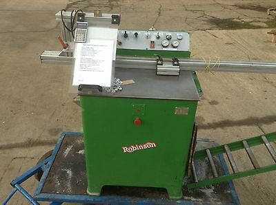Robinson high speed cut off saw, pneumatic and 240v
