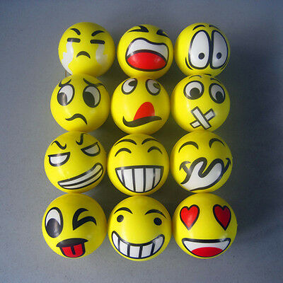 2X Emoji Emotion Face Anti Stress Reliever Ball ADHD Autism Mood Toy Squeeze HOT