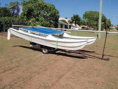 Hobie 14' catamaran with trailer good easy project