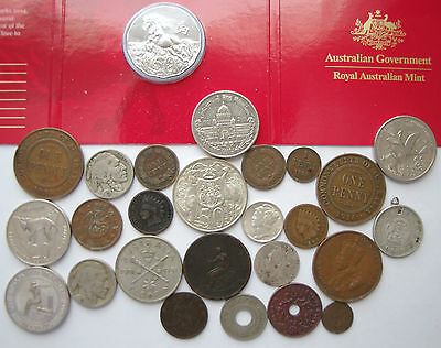 collection of world coins some silver