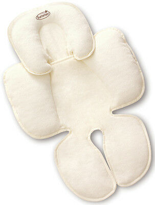 Summer Infant SNUZZLER TERRY COTTON IVORY Baby Car Seat Head & Neck Support BN