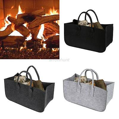 Chic New Fireplace Firewood Firewood Log Caddy Felt Tote Bag Carrier Holder Bags