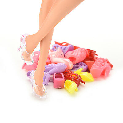 12 Pair Fashion Doll Shoes Heels Sandals For Barbie Dolls Outfit Dress FT