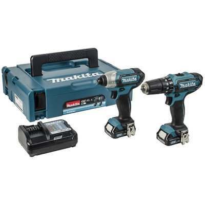 Makita 10.8V clx202aj Twin Pack CXT 2 Piece Kit With Combi Drill & Impact Driver
