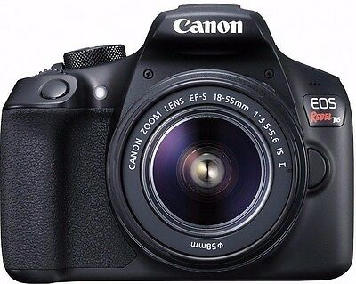 Canon EOS T6 Rebel Digital SLR Camera + EF-S 18-55mm IS II Lens - BRAND NEW