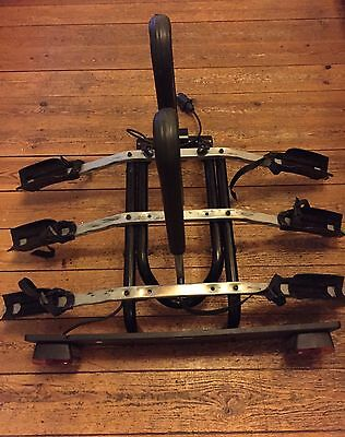 Thule 3 Bike Cycle Carrier  Rack Tow Bar Fixing With Lights