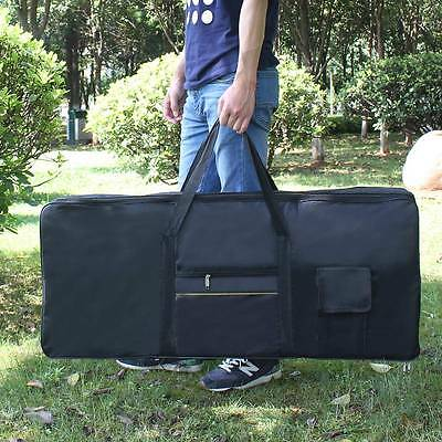 Stylish Black 61-Key Keyboard Electric Piano Padded Case Gig Bag Oxford Cloth