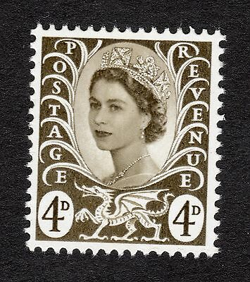 Wales SG W9 4d Olive Sepia MNH R19372