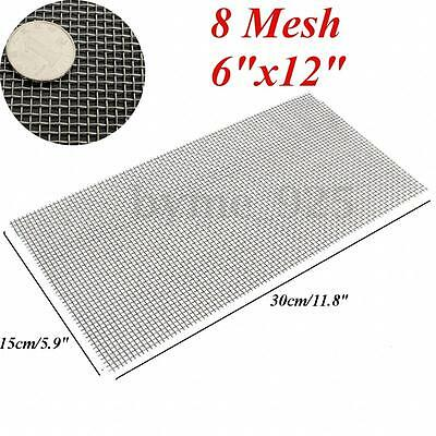 304 Stainless Steel 8 Mesh #8 .035 Filtration Woven Wire Cloth Screen 15 x 30cm