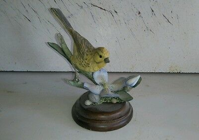 """Country Artists Birds """"yellow hammer with clematis """""""