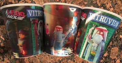 Lego Movie McDonald's Collector's Cups Set Of 3