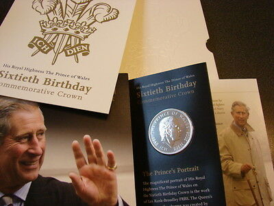 2008 Prince Charles £5 Five Pound Coin, BUNC in Royal Mint Special Pack