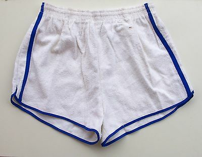 Short de Tennis homme  - Vintage authentique - 2 Bandes Blanc - France - T 38-