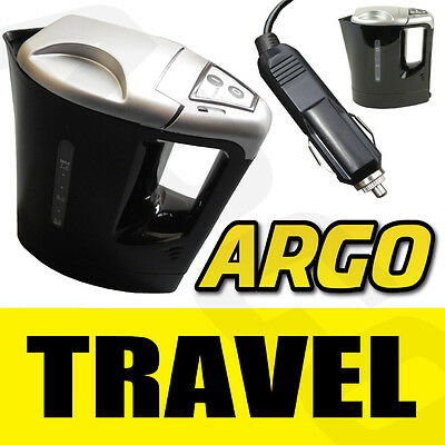 12V Electric Kettle Water Car Van Lorry Travel Portable Camping Jug 1 Litre Hot