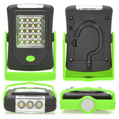 LED Light Flashlight Torch Lantern Work Light 20 LED Lamp with Magnet Hook