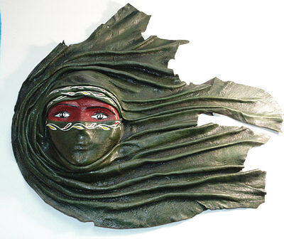 Stunning Wall Decor Bedouin Woman Mask Sahara Dessert Egypt Tunis North Africa