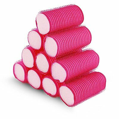 Pretty Pink Soft Hair Rollers Perfect For Sleeping In Curling Accessory 10 Pack
