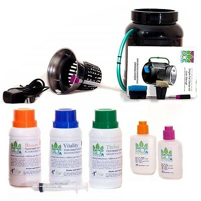 Hydroponics Grow System Complete Hydroponic Starter Kit includes GLF Nutrients