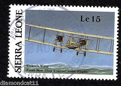 1987 Sierra Leone 15Le Vickers Vimy SG 1060 FINE USED R26065