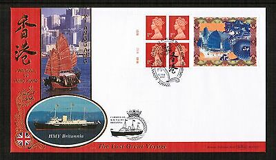 GB 1997 Farewell to Hong Kong Label Booklet FDC Carried on H M Yacht Britannia