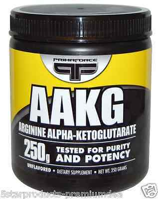 New Primaforce Aakg Arginine Alpha-Ketoglutarate Unflavored Daily Dietary Care