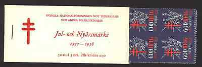 1957 - 1958 Swedish Christmas and New Year booklet 50 seals - 100% Mint