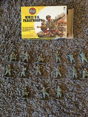 airfix 1 32 Scale WW2 US Paratroopers, 15 Figures