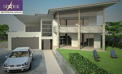 Sloping Land  Plan 382, 5 Bedrooms - Size 411m2, engineered to codes