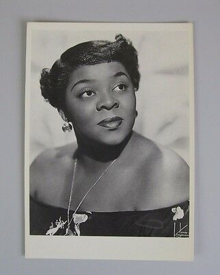 Dinah Washington Vintage Postcard  / Jazz Singer (What a Difference a Day Makes)