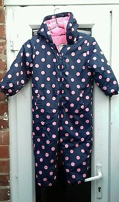 girls all in one snowsuit size 4/5 yrs