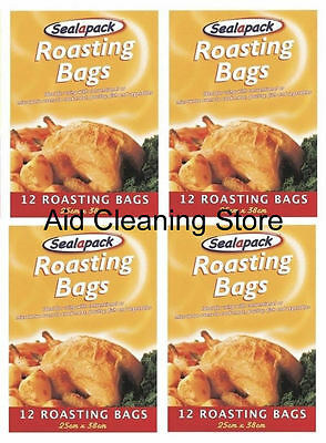 4 X 12 Large Roasting Bags Mircowave Oven Cooking Poultry Chicken Meat Fish