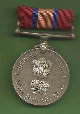 Independence Medal 26 Janvery 1950 Police Medal Unnamed With Original Riban