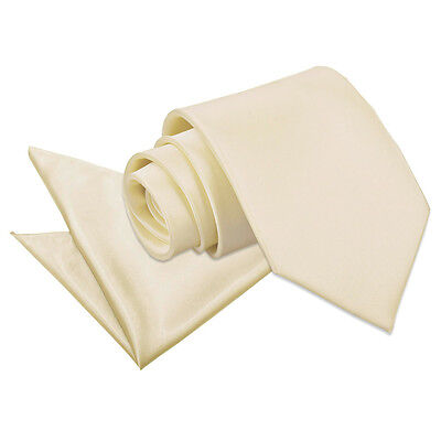 High Quality Neck Tie And Hanky Wedding Set - Champagne