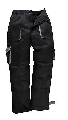 Portwest Texo Trousers Black/Grey Small - TX11