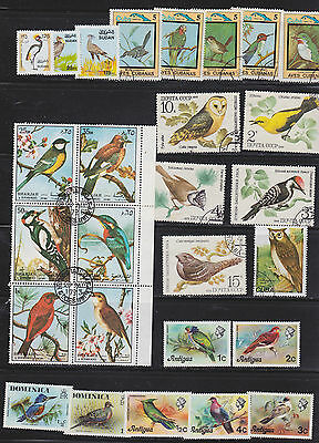 55 superb  Wild Bird  stamps from all over the world.  2 scans