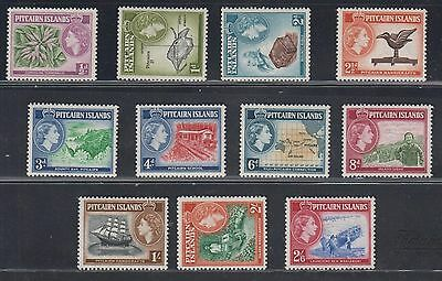Pitcairn Islands - 11 valori Linguellati (Mint Hinged) N° 18/28