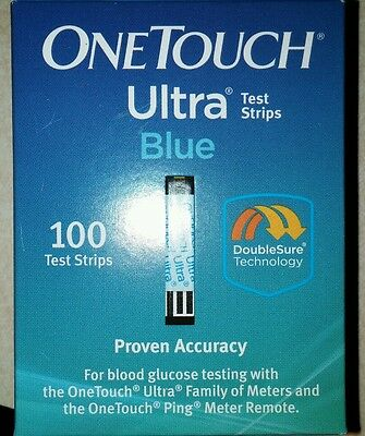 NEW IN BOX !! 2 boxes - One Touch Ultra Blue Test Strips 100/ea box EXP 04/2018