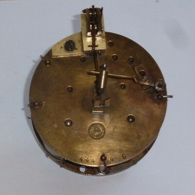 Antique French Japy Freres striking drum clock movement for spares