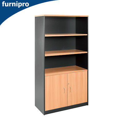 NEW Office / Home Open Bookcase Book Shelf & Office Furniture Grey H 900mm
