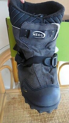 NEOS  Overboots, Mens XS, Navigator Style, Blk, Waterproof Insulated Boots NEW