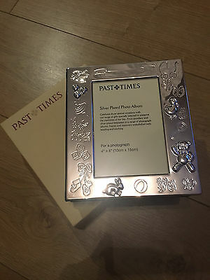 Brand New in box Silver Plated Christening Photo Frame