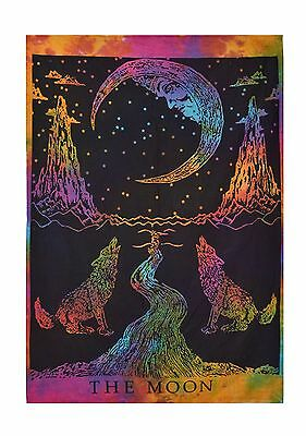 Indian Sun Moon Multi Tapestry Wall Hanging Hippie Home Decor Ethnic Tapestry
