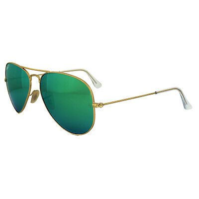Ray-Ban Sunglasses Aviator 3025 112/P9 Gold Green Polarized Mirror