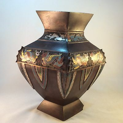 Chinese / Japanese Antique Bronze Vase - Mythical Creatures, early 19TH Century