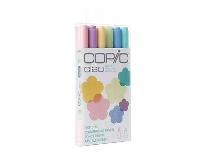 Copic Ciao 6PC PASTEL Set  Pastel Colours 6 Piece MARKER Set