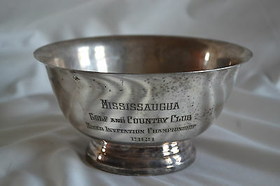 Trophy Mississaugua Golf And Country Club 1969 Mixed Invitation Championship