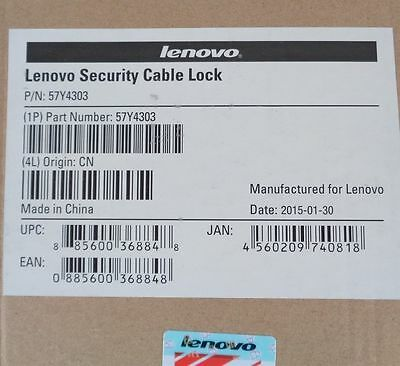 Lenovo Security Cable Locks P/n57Y4303 Job Lot X 10