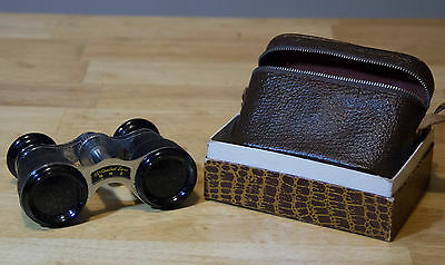 RHI opera binoculars with case